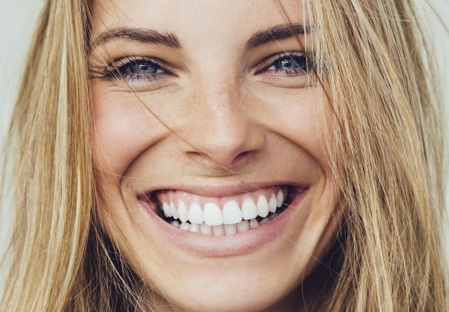 Happy Woman with a White Smile