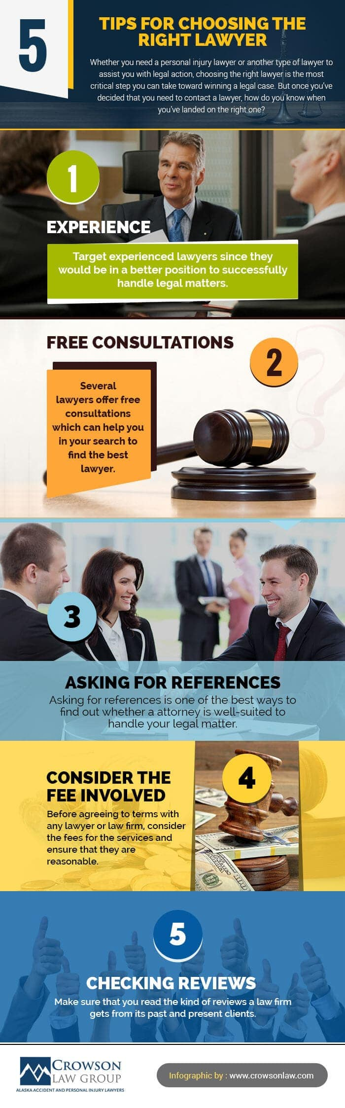 5 Tips For Choosing the Right Lawyer