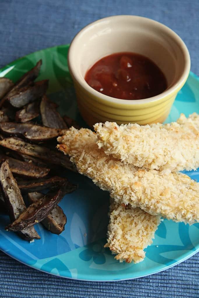 Happy Meals for Grownups – Oven-Baked Chicken Fingers w/ Plum Chutney