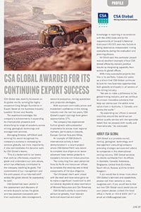 CSA Global Awarded For Its Continuing Export Success