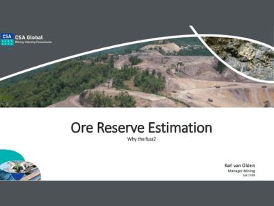 Ore Reserve Estimation