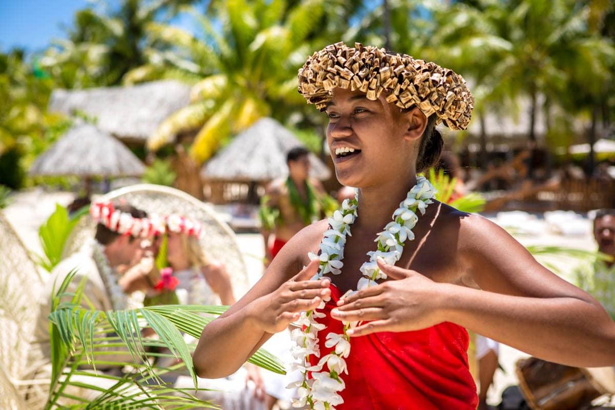 Polynesian wedding ceremony