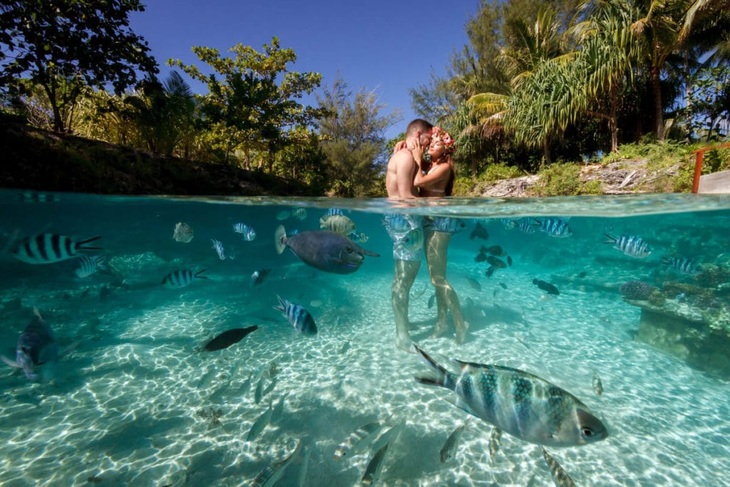 Four Seasons is the best resort in Bora Bora for underwater pictures