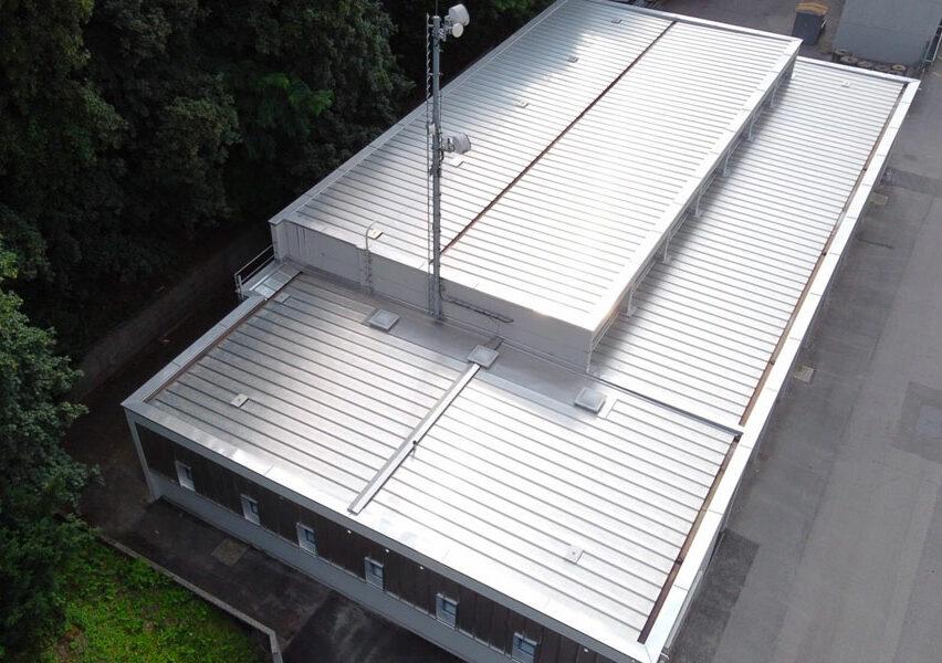 Edificio a Chiasso - Copertura metallica e serramenti 1000 m2