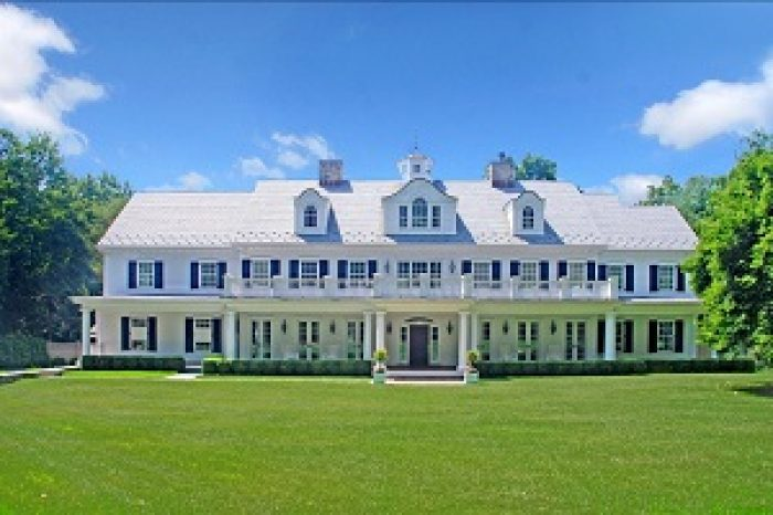 classic grand colonial front in westport ct by connecticut architect demotte architects