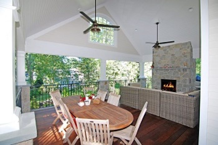 indoor outdoor space by demotte architects in riverside ct