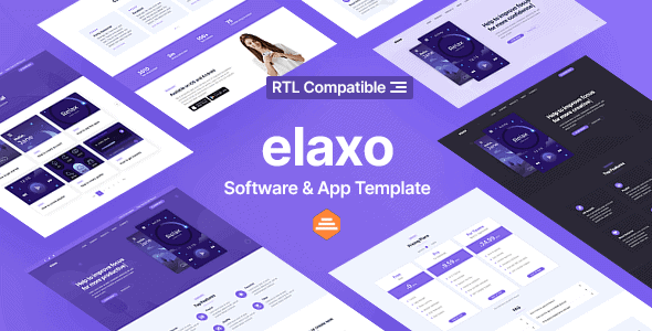 Elaxo – App and Software Website Template + RTL