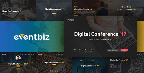 Eventbiz – Event, Conference and Seminar Website Template