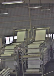 shuttle loom at infrastructure facility.