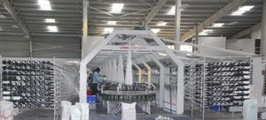Fabric loom at infrastructure facility