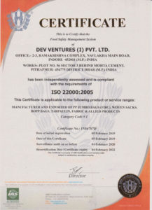ISO 22000:2005 Certificate of Authority