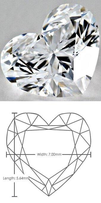 1 Karat Diamant mit Herzschliff mit dem Verhältnis von 80:100 (20-fache Vergrößerung!)