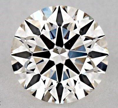 Ideale Proportionen eines rund geschliffener Diamant mit unbefriedigenden Lichteigenschaften