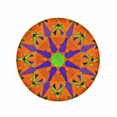 ASET-Aufnahme Diamant mit 1,131 Karat Farbe F und VS2