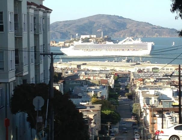 CRUISE SHIP FROM RUSSIAN HILL