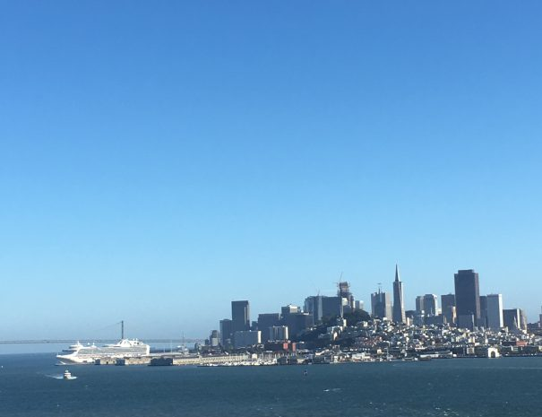 SF SKYLINE FROM GGB NORTH VIEW POINT