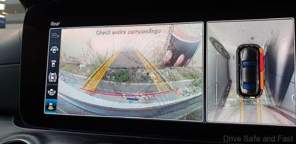 mercedes-benz cls parking monitor