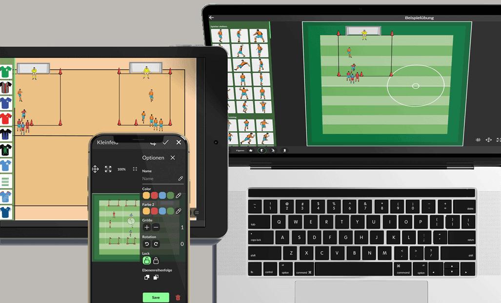 Fußballübungen kostenlos zeichnen