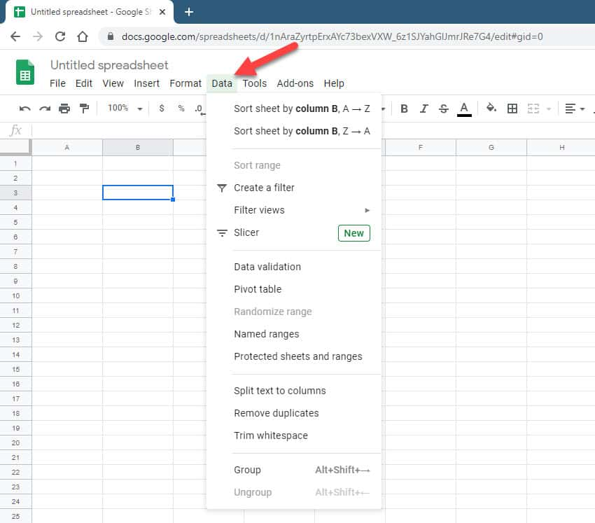 Create a Dropdown List in Google Sheets