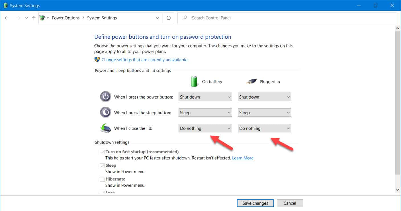 prevent laptop from sleeping when lid is closed