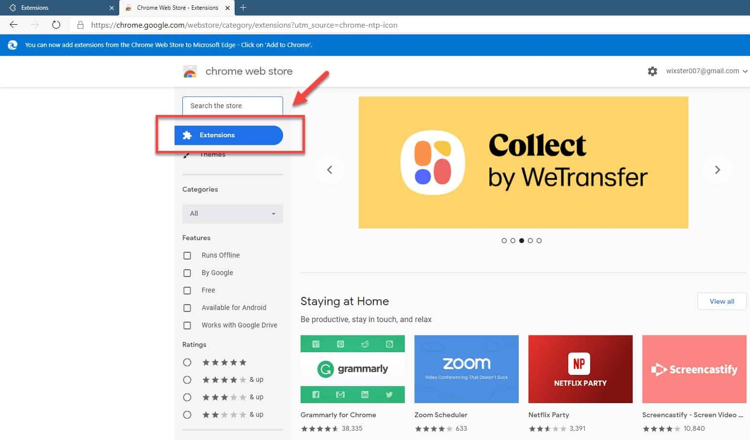 chrome web store extensions