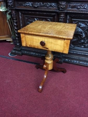 antique maple side table