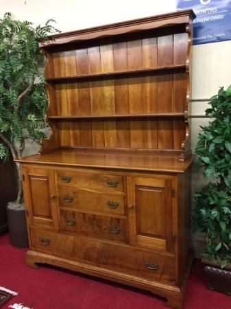 stickley cherry hutch cabinet