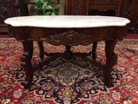 Victorian Marble Top Coffee Table