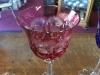 Pink Bohemian Crystal Stemware Goblet