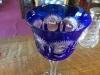 Blue Bohemian Crystal Stemware Goblet