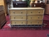 Wicker and Metal Six Drawer Dresser