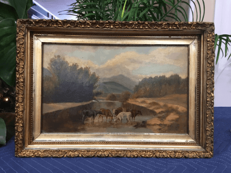 Antique Pastoral Painting - Framed