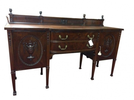 Antique Mahogany Carved Federal Style Sideboard