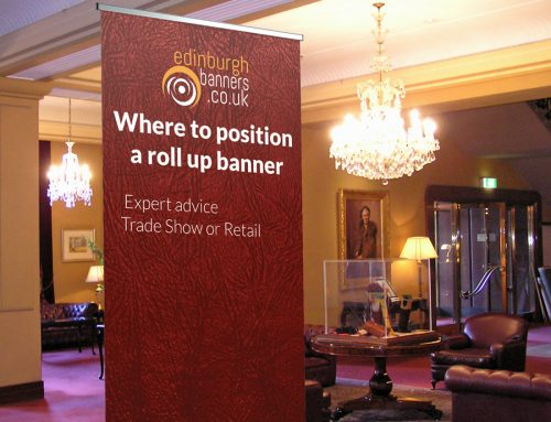 Where to Position a Rollup Banner