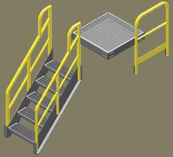 Stair Platform Handrail