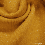Sweatshirt molletonné scintillant - moutarde