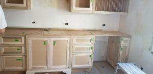 Before: Custom cabinet refinishing project