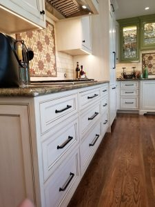 After: Custom cabinet refinishing project