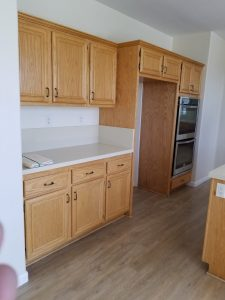 Kitchen cabinet painting project