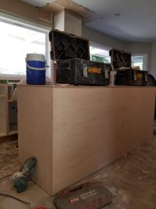 Refinished kitchen cabinets equipment