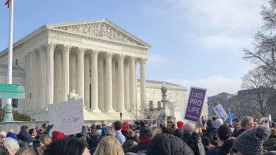 The march for life in Washington, D.C.