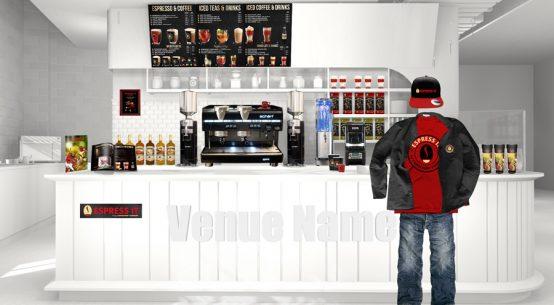 Shop in Shop Gastronomie Konzept für Kaffee und Tee