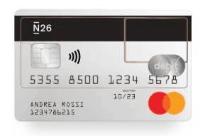 N26 Carta di debito