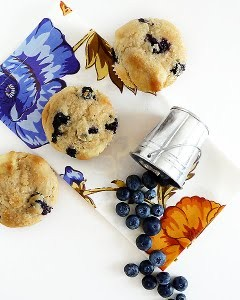 Bluberries and Cream Muffin