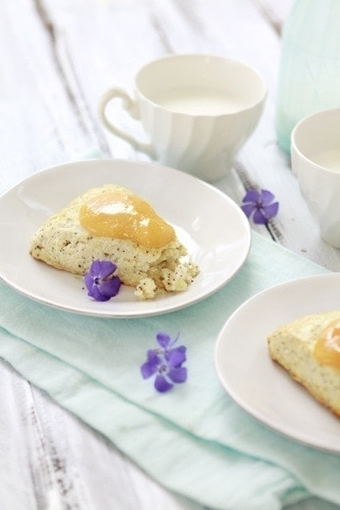 Buttermilk Poppy Seed Citrus Scones make a tasty springtime scone.