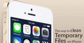 ลบไฟล์ Temporary ใน App ได้พื้นที่ใน iPhone คืนมาอีกเยอะ