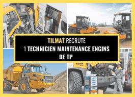 TECHNICIEN MAINTENANCE ENGINS DE TP (H/F)