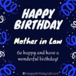 Birthday Wishes for Mother In Law, Bday Greetings, Messages