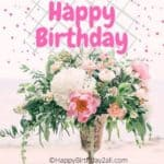 Happy Birthday With Roses, Bday Wishes, Quotes With Roses