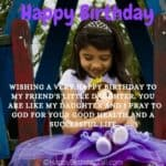 Birthday Wishes for Friends Daughter, Bday Quotes, Greetings
